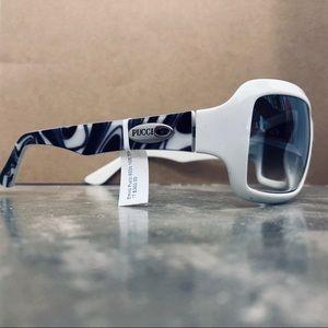 Emilio Pucci White Purple Sunglasses